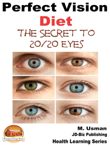 Perfect Vision Diet: The Secret to 20/20 Eyes