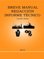 Breve Manual Redacción Informe Técnico