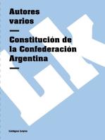 Constitución de la Confederación Argentina