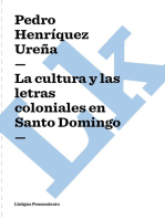 cultura y las letras coloniales en Santo Domingo