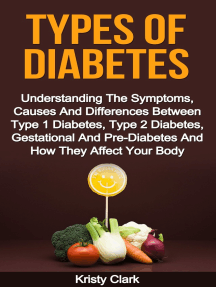 Types Of Diabetes: Understanding The Symptoms, Causes And Differences Between Type 1 Diabetes, Type 2 Diabetes, Gestational And Pre-Diabetes And How They Affect Your Body.