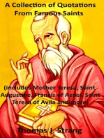 A Collection of Quotations from Famous Saints