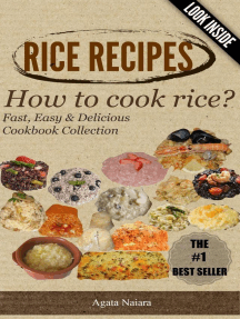 RICE RECIPES - How to cook rice?: This Is ONLY Rice Cooking! (Fast, Easy & Delicious Cookbook, #1)