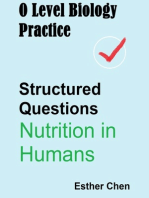O Level Biology Practice For Structured Questions Nutrition In Humans