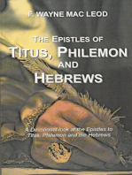 The Epistles of Titus, Philemon and Hebrews