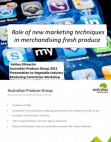 Role of New Marketing Techniques in Merchandising Fresh Produce