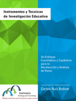 Instrumentos y Tecnicas  de Investigación Educativa: Un Enfoque Cuantitativo y Cualitativo para la Recolección y Análisis de Datos
