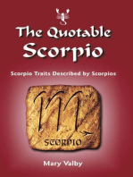The Quotable Scorpio: Scorpio Traits Described by Scorpios