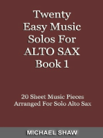Twenty Easy Music Solos For Alto Sax Book 1