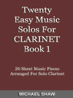 Twenty Easy Music Solos For Clarinet Book 1