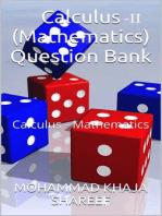 Calculus-II (Mathematics) Question Bank