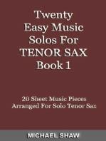 Twenty Easy Music Solos For Tenor Sax Book 1