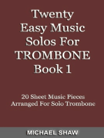 Twenty Easy Music Solos For Trombone Book 1