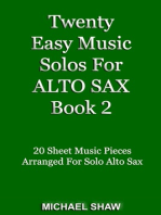 Twenty Easy Music Solos For Alto Sax Book 2