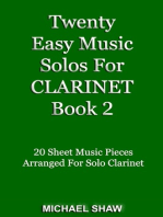 Twenty Easy Music Solos For Clarinet Book 2