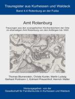 Amt Rotenburg: Trauregister von Kurhessen und Waldeck, Band 4.4