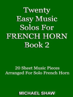 Twenty Easy Music Solos For French Horn Book 2