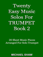 Twenty Easy Music Solos For Trumpet Book 2