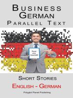 Business German - Parallel Text - Short Stories (English - German)