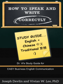 How to Speak and Write Correctly: Study Guide (English + Chinese Traditional)