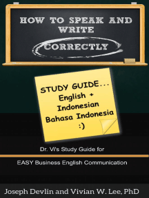 How to Speak and Write Correctly: Study Guide (English + Indonesian)
