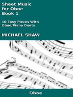 Sheet Music for Oboe: Book 1