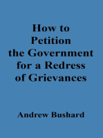 How to Petition the Government for a Redress of Grievances