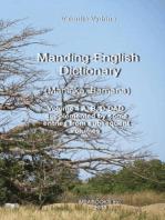 Manding-English Dictionary: Maninka, Bamana Vol. 1.
