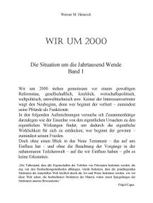 Wir Um 2000 - Band 1: Die Situation um die Jahrtausend Wende