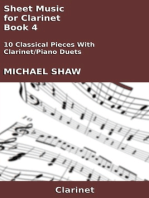 Sheet Music for Clarinet: Book 4