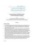 Economic Analysis - Investment Management Industry