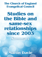 Studies On The Bible And Same-Sex Relationships Since 2003: Summary