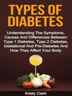 Types Of Diabetes - Understanding The Symptoms, Causes And Differences Between Type 1 Diabetes, Type 2 Diabetes, Gestational And Pre-Diabetes And How They Affect Your Body. (Diabetes Book Series, #2)