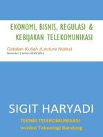 Ekomomi, Bisnis, Regulasi & Kebijakan Telekomunikasi