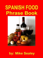 Spanish Food Phrase Book- New 3rd Edition