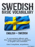 Basic Vocabulary English - Swedish: A convenient eBook with the most important vocabulary in English and Swedish