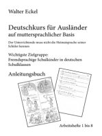 Deutschkurs für Ausländer auf muttersprachlicher Basis - Anleitungsbuch