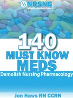140 Must Know Meds Demolish Nursing Pharmacology