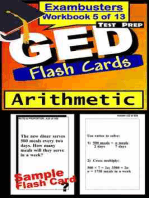 GED Test Prep Arithmetic Review--Exambusters Flash Cards--Workbook 5 of 13