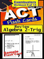ACT Test Prep Algebra 2-Trig Review--Exambusters Flash Cards--Workbook 9 of 13