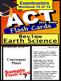 ACT Test Prep Earth Science Review--Exambusters Flash Cards--Workbook 10 of 13: ACT Exam Study Guide