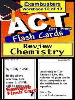 ACT Test Prep Chemistry Review--Exambusters Flash Cards--Workbook 12 of 13