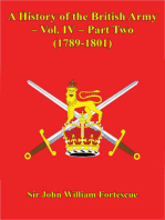 A History Of The British Army – Vol. IV – Part Two (1789-1801)