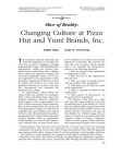 Research Study on Changing Culture at Pizza Hut and Yum! Brands, Inc.
