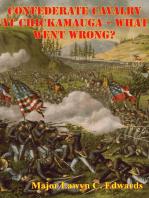 Confederate Cavalry At Chickamauga - What Went Wrong?
