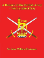 A History of the British Army – Vol. I (1066-1713)