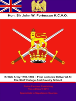 The British Army 1793-1802 – Four Lectures Delivered At The Staff College And Cavalry School