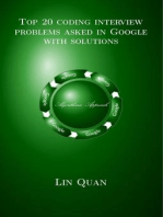 Top 20 coding interview problems asked in Google with solutions: Algorithmic Approach