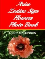 Aries Zodiac Sign Flowers Photo Book