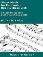 Sheet Music for Euphonium - Book 1 (Bass Clef)